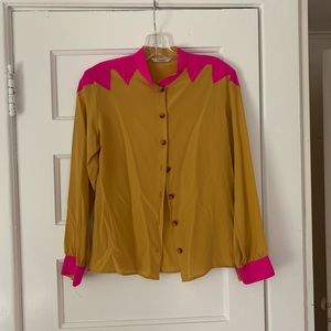 silk Tucker blouse with western details.